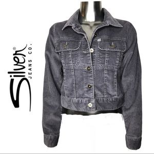 Silver Jeans Grey Corduroy Button Front Jacket XS